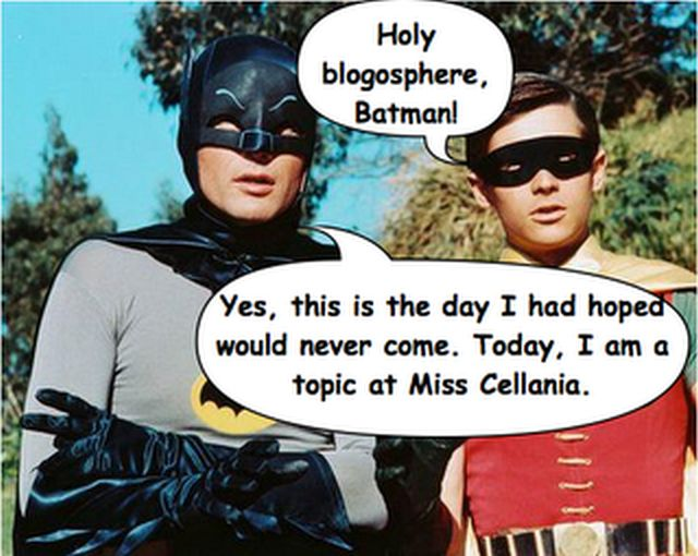 When Batman becomes a blog post